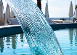 houston swimming pool builder water fall